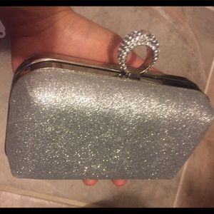 Elegant silver clutch, great condition